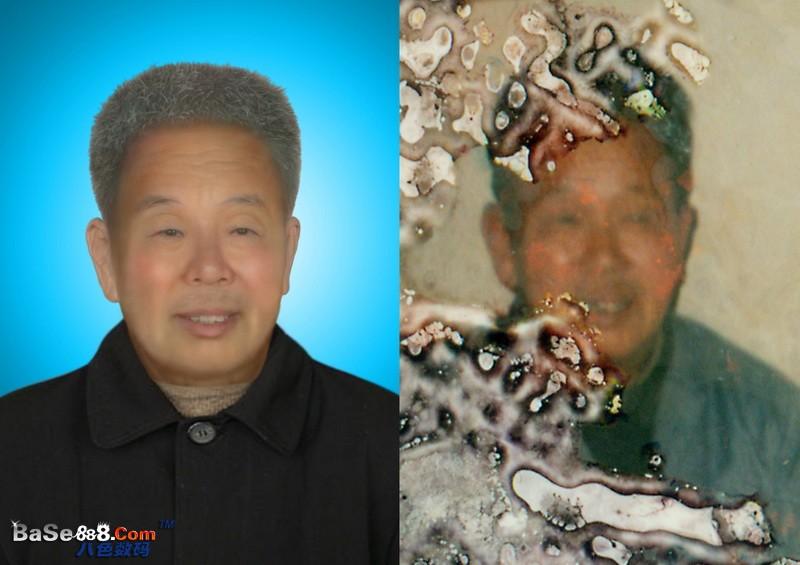 旧照片修复 --损坏比较多老爷爷的中级修复