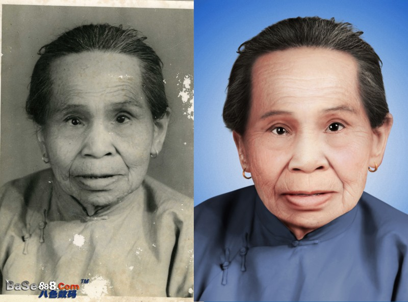 旧照片修复--高级真人皮肤做清晰