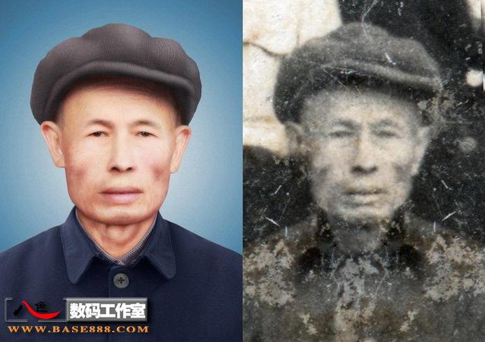 旧相片修补-革命战场幸存的老兵士