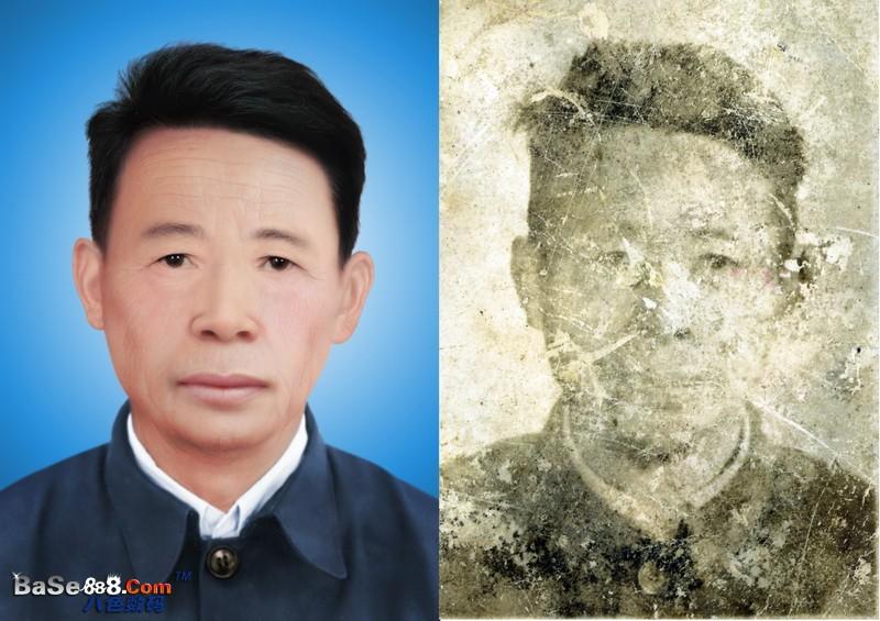 旧照片翻新-- 真人皮肤的高级彩色修复