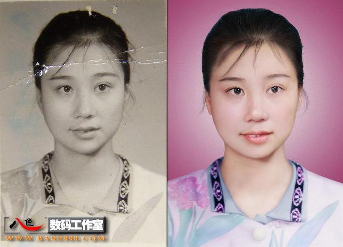 旧相片翻新  留住年轻时代的鲜艳